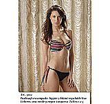 Bikini Push soft estampado hippie y bikini regulable lisa