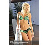 Bikini taza soft y flor en relieve transparente y brillo