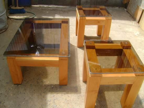 Mesa centro vidrio muebles sur 20170801044620 for Muebles terraza madera