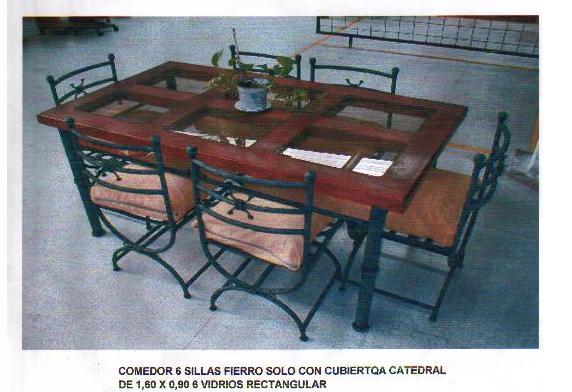 Comedor 6 sillas de terraza a medida for Comedor para terraza