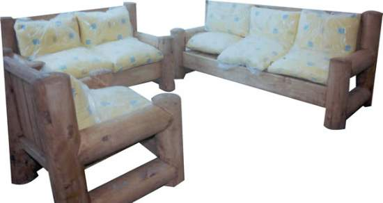 Living muebles r sticos para su for Sillones rusticos para living