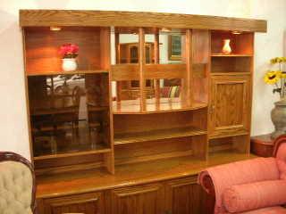 Muebles biblioteca modelo for Closets finos madera