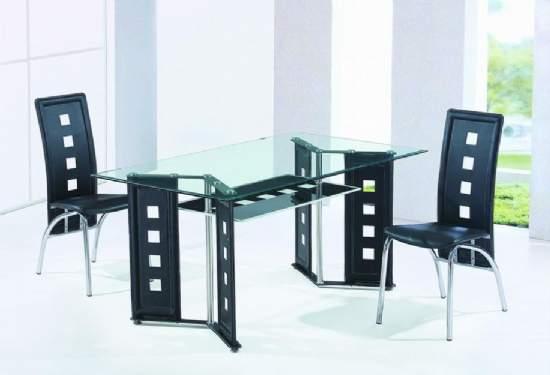 Muebles cromados cromados muebles for Muebles de comedor en vidrio
