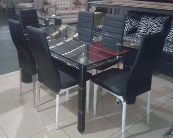 Muebles cromados cromados muebles - Comedores modernos en vidrio ...