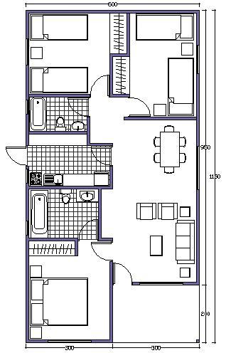 Constructora construcci n for Planos de casas economicas