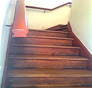 Pulido y vitrificado de escaleras de parquet y madera for Escala o escalera