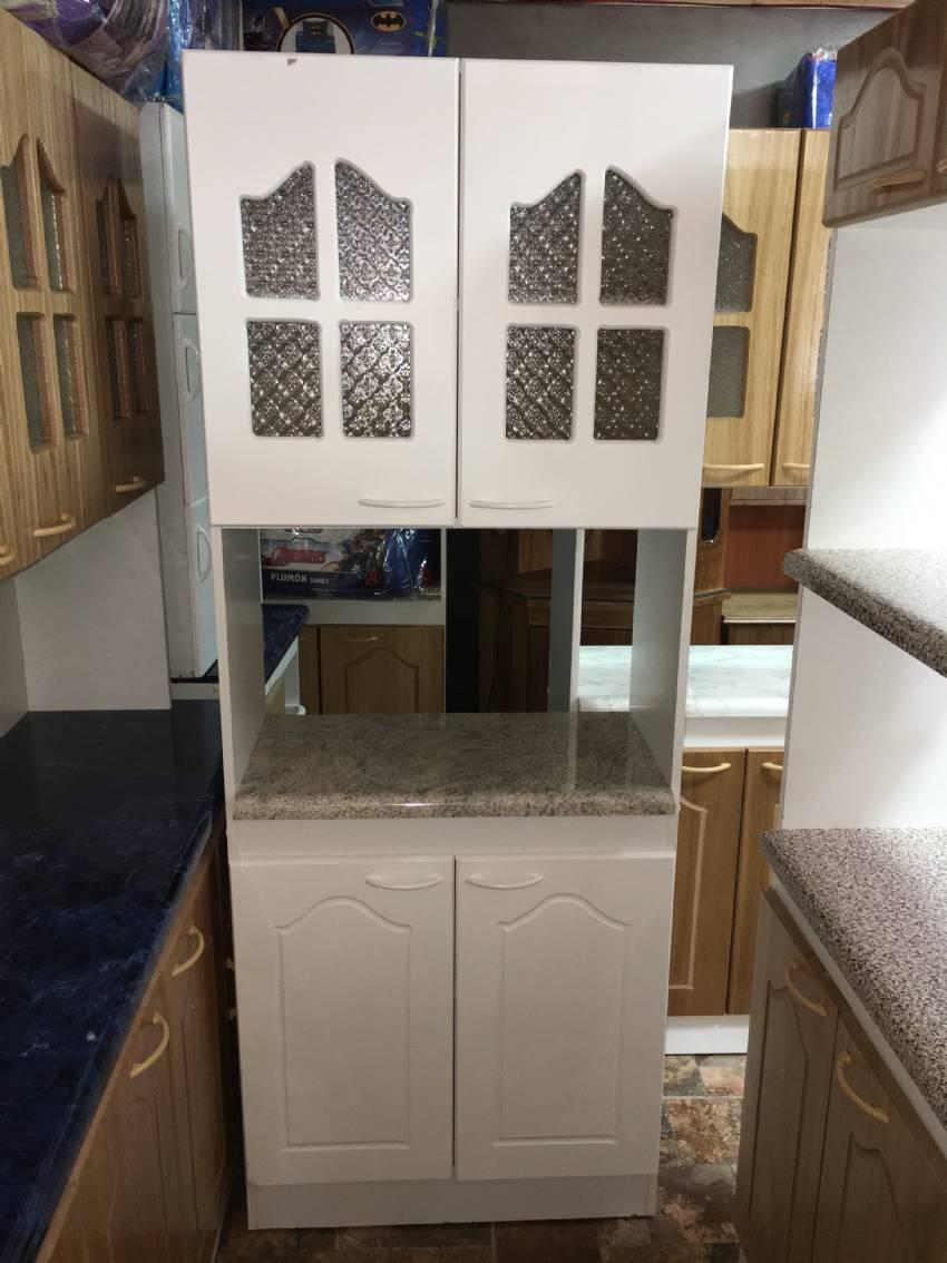 Mueble Cocina 2 Cuerpos Compacto Con 1 Repisa Mueble Cocina 2  ~ Cortinas Para Muebles De Cocina