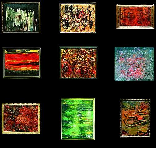 Cuadros abstractos cuadros modernos for Cuadros abstractos con marco