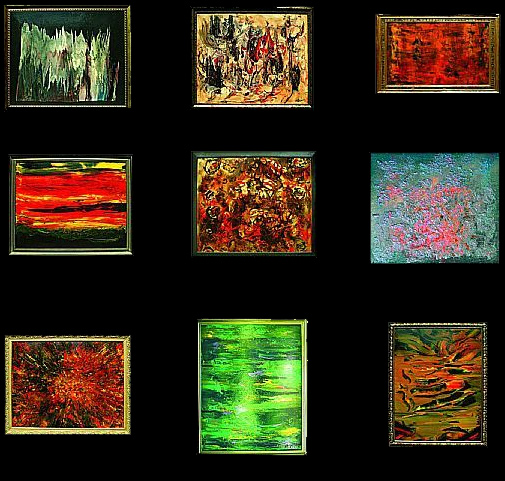 Cuadros abstractos cuadros modernos for Imagenes de cuadros abstractos texturados