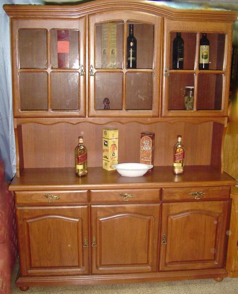 Vitrina alacena for Closets finos madera