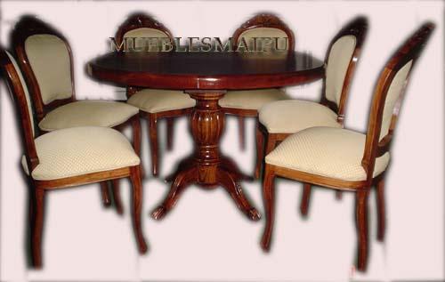 Muebles mueblesmaipu comedores for Comedor redondo de madera