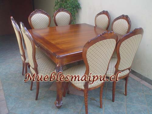 Comedor normando 8 sillas for Comedores 8 sillas chile