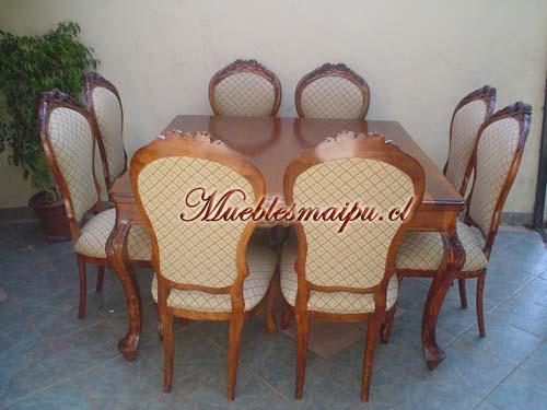 Comedor normando 8 sillas for Comedores baratos en santiago